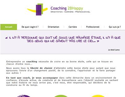 """Coaching 2BHappy"" website"