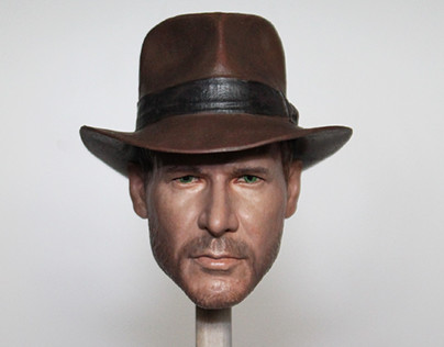 1/6 Indiana Jones Head Painting