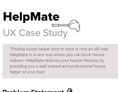 UX Case Study- Helpmate
