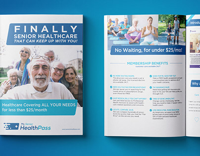 Tri-fold & Catalog Design: MySeniorHealthPass