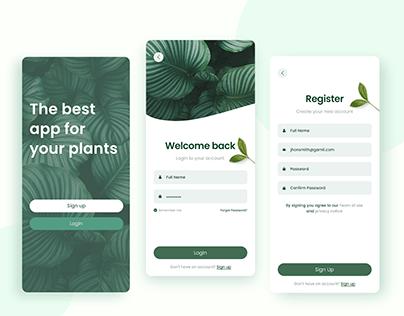 Plant App: Sign up / login UI