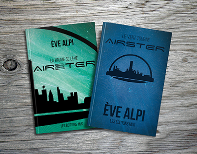 "Design des livres ""AIRSTER"" de Ève Alpi"