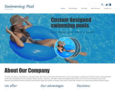 Swimming Pool Construction Joomla Template