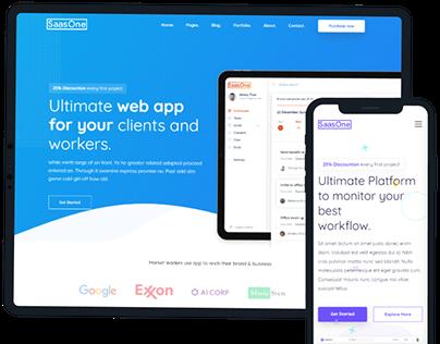 SaasOne — Creative Agency, Corporate and Portfolio Mult