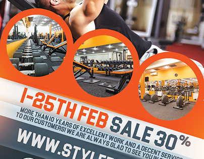 GYM FREE PSD Flyer Template