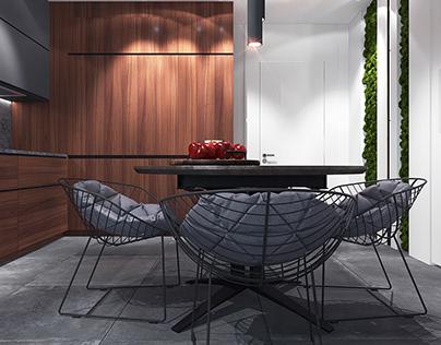 Kitchen in a private apartment