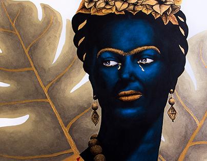 Black Frida Kahlo