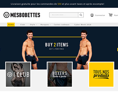 Web Design For Underwear e-Commerce Online Store