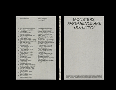 MONSTERS. APPEARENCE ARE DECEIVING