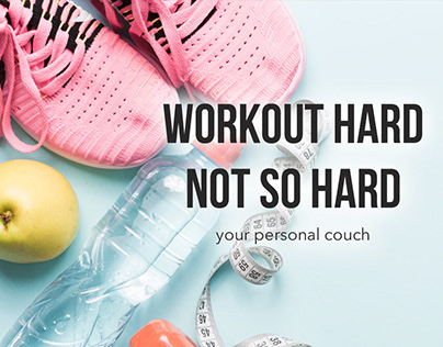 Personal advertising page for a fitness trainer