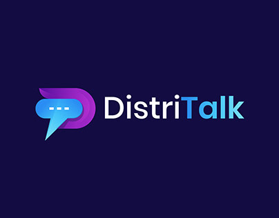 Modern D+T logo for distitalk