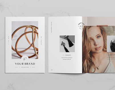 Jewelry Catalog and Lookbook Template