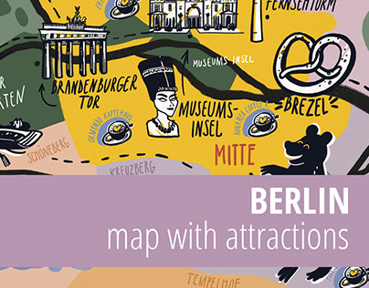 Illustrated map of Berlin