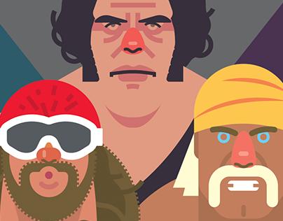 1980's Pro Wrestling poster