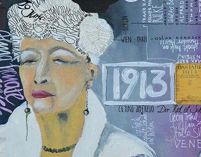 Alma Mahler 1913 Illustration