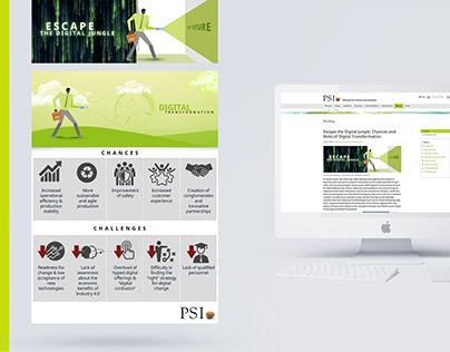 Escape The Digital Jungle   Corporate Blog Illustration