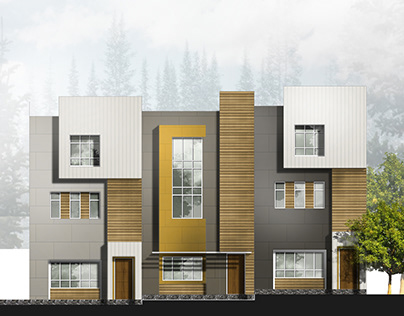 townhouse elevation design