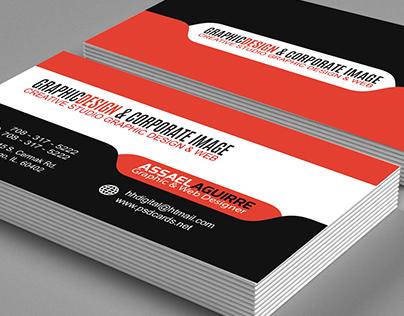 Stylish & Modern Tab Design Business Card Template