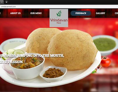 Vrindavan Nest Pure Veg Restaurant website