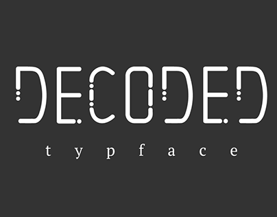 Morse Code Typeface 'Decoded'