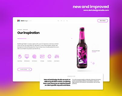 DarkDesign Studio Website Design