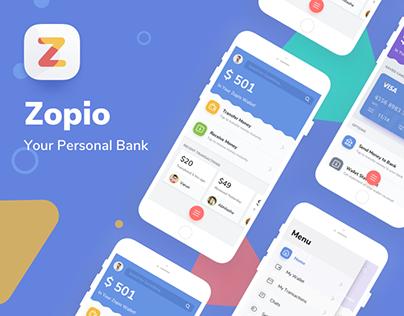Zopio - Fintech Mobile App UI