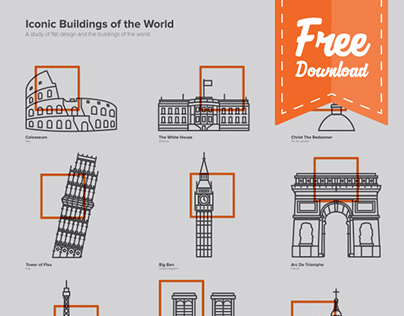 Iconic Buildings Icons (Free Download)