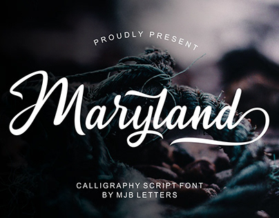 Maryland Calligraphy Script Font