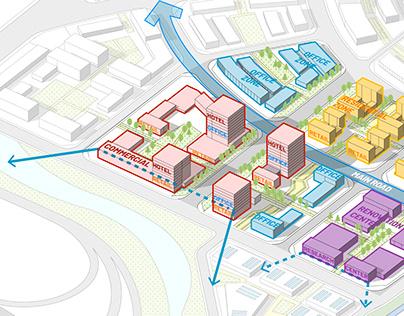 Sasaki Style Urban Design Diagram