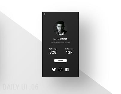 daily ui 06 : Settings screen