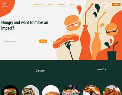 Bring Me Home Web Portal Landing Page Design