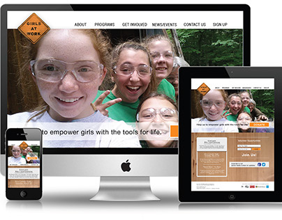 Girls at Work Inc. Web Page Redesign