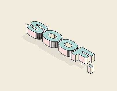 Soof 3d typography