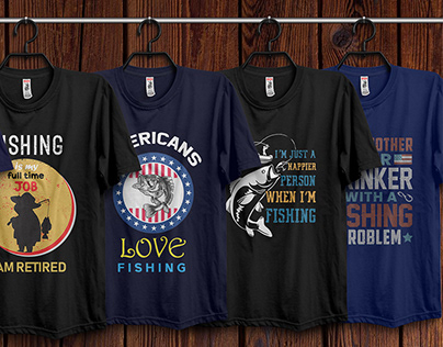 Fishing T-Shirt Design Bundle Free