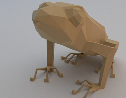 Low poly and sculpting frog