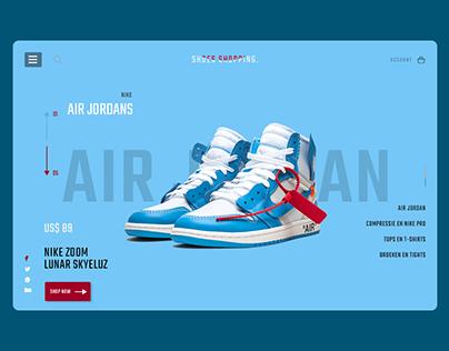 Shoe Store E-commerce Platform PSD Template