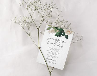 S+C Wedding Invites