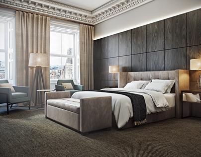 Interior Rendering - Hotel Apartment