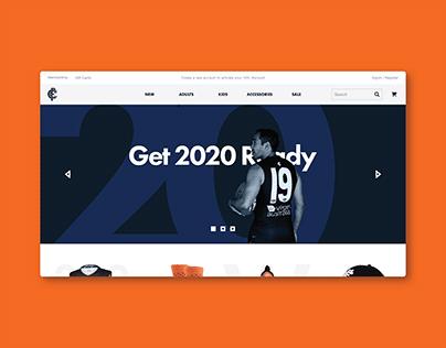 Carlton Football Club E-commerce Website