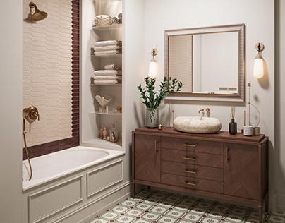 Visualization of master bathroom