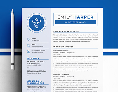 Registered Nurse Resume/CV Template