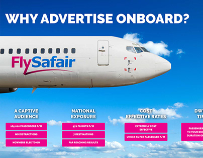 FlySafair Rate Card Design