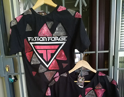 Hand-Painted & Printed, T-shirt for Fiction Forge