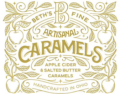 Caramel Candy Jar Label
