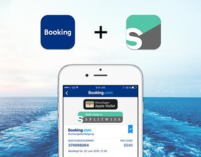 booking.com + Splitwise