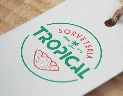 Redesign de Marca - Sorveteria Tropical
