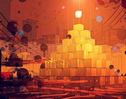 Crypto Art: Dystopian City, Painting Techniques + C4D