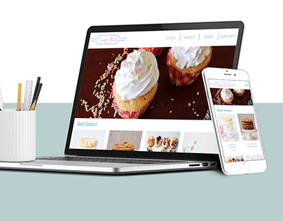 Sugar Rush Bakery: Website Design