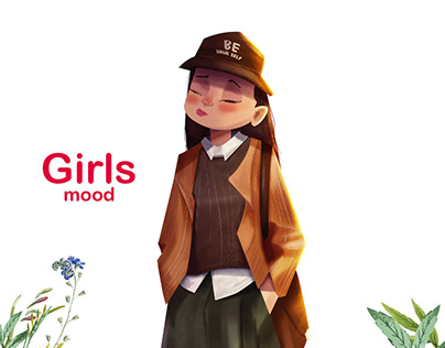 Girl's Mood Character design Vol 1
