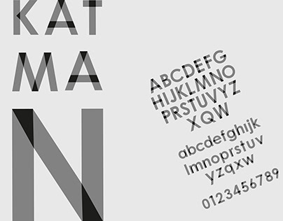 Font Design ''Katman''